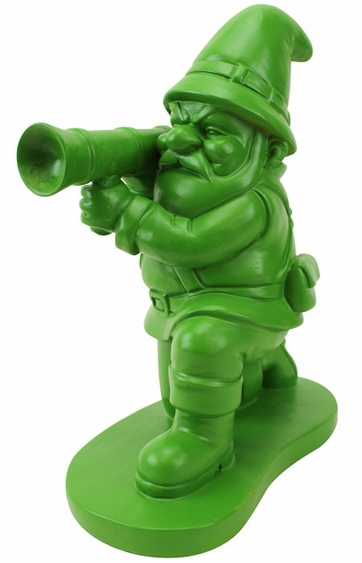 Green army gnome only at garden fun for Combat gnomes for sale