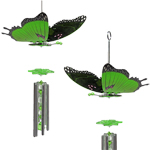 Green Butterfly Wind Chimes (Set of 2)