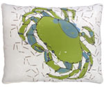 Green Crab Outdoor Pillow
