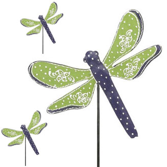Green Dragonfly Picks (Set of 6) - Click to enlarge