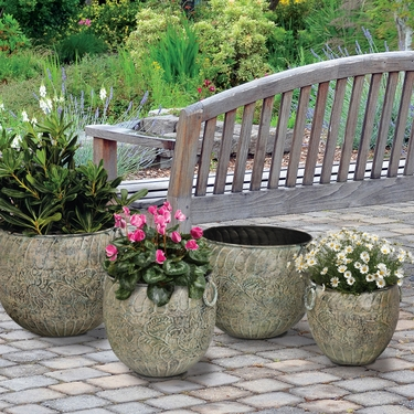 Green Flower Nesting Planters (Set of 4) - Click to enlarge