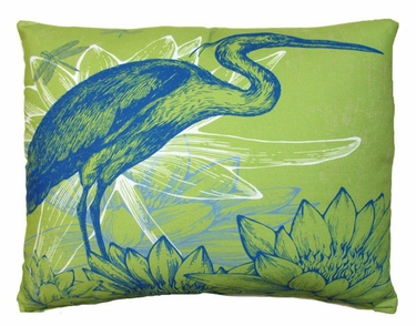 Green Heron Outdoor Pillow - Click to enlarge