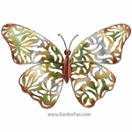 Green Lace Butterfly Wall Decor