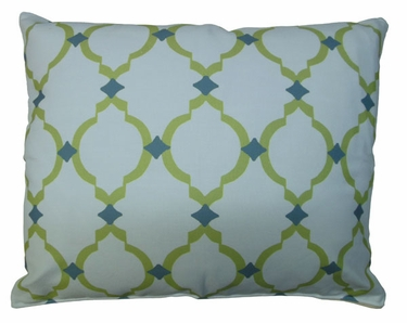 Green Lattice Outdoor Pillow - Click to enlarge
