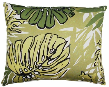 Green Leaves Outdoor Pillow (18