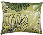"Green Leaves Outdoor Pillow (18"" x 18"")"