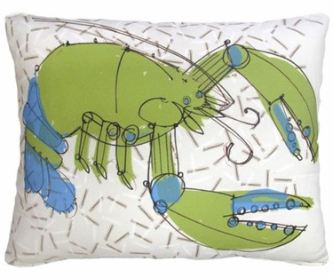 Green Lobster Outdoor Pillow - Click to enlarge