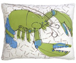 Green Lobster Outdoor Pillow