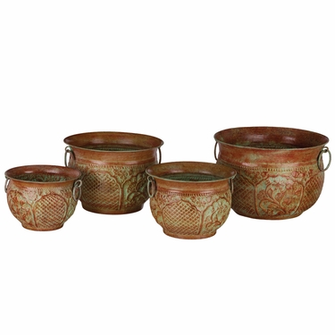 Green Moroccan Nesting Planters (Set of 4) - Click to enlarge