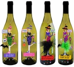 Halloween Divas Wine Charms (Set of 4)