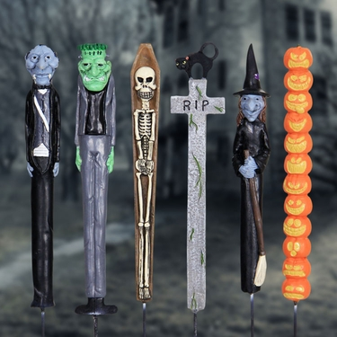 Halloween Planter Stakes (Set of 6) - Click to enlarge