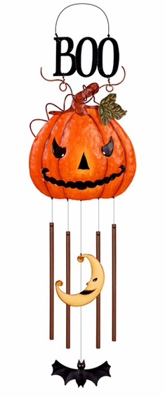 Halloween Pumpkin Boo Chime - Click to enlarge