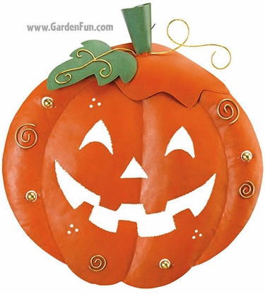 Halloween Pumpkin Decoration - Round - Click to enlarge