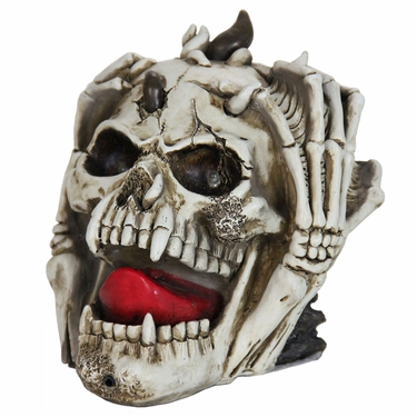 Halloween Skull w/LED Eyes & Timer - Click to enlarge
