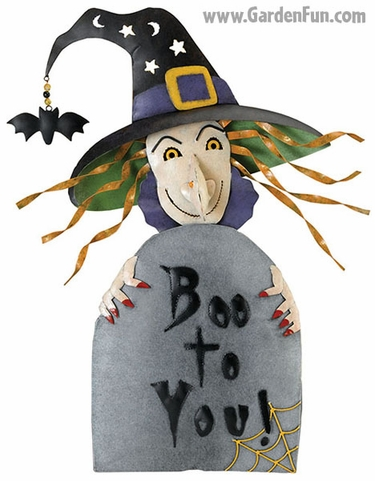 Halloween Witch - Boo To You Decor - Click to enlarge