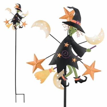 Halloween Witch Garden Spinner - Click to enlarge