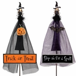 Halloween Witch Stakes / Signs (Set of 2)