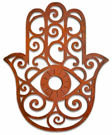 Hamsa Hand Metal Wall Art only 6999 at Garden Fun