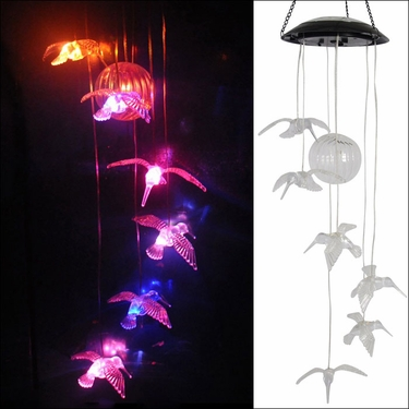Hanging Hummingbirds - LED Color Changing - Click to enlarge