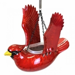 Small Hanging Red Cardinal Bird Feeder/Planter