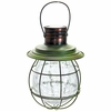 Hanging Solar Lantern with 6 LED String Light - Green