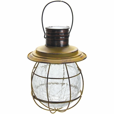 Hanging Solar Lantern with 6 LED String Light - Yellow - Click to enlarge