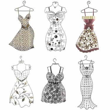 Hanging Wall Dress Forms (Set of 6) - Click to enlarge