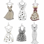 Hanging Wall Dress Forms (Set of 6)