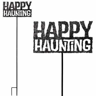 Happy Haunting Stake / Sign - Click to enlarge