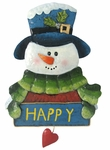 Happy Love Snowman Wall Decor