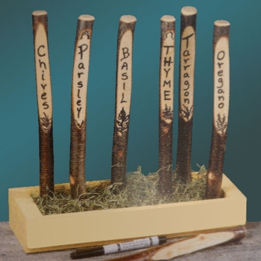 Hardwood Garden Markers (6-pack) - Click to enlarge