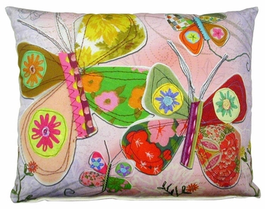 Heartstrings 1 Butterflies Outdoor Pillow - Click to enlarge