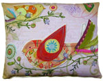 Heartstrings 3 Birds Outdoor Pillow