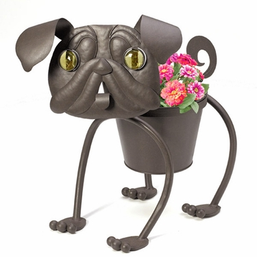 Heddy The Pug Dog Planter - Click to enlarge