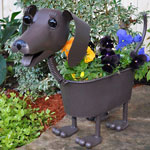 Heidi the Dachshund Dog Planter