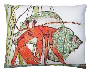 Hermit Crab Outdoor Pillow - Click to enlarge