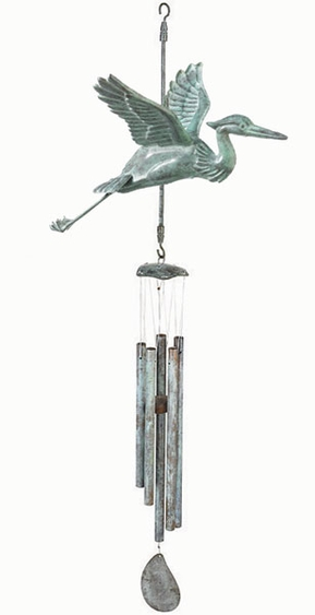 Heron Bird Wind Chime - Click to enlarge