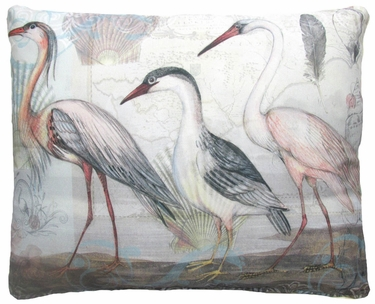 Herons Marching 3 Outdoor Pillow - Click to enlarge