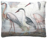 Herons Marching 3 Outdoor Pillow