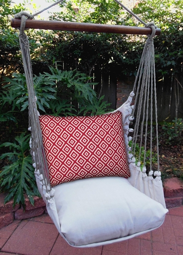 Hip Red Squares Hammock Chair Swing Set - Click to enlarge