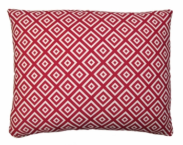 Hip Squares Red Outdoor Pillow - Click to enlarge
