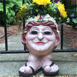 Hippie Chick Planter