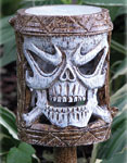 Holiday Garden Tiki Stakes - Skull (Set of 4)