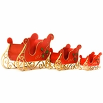 Holiday Iron Christmas Sleighs (Set of 3)