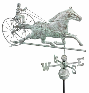Horse Sulky Weathervane - Click to enlarge