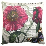Horticole w/Butterfly Outdoor Pillow