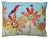 Hummingbird and Ladybug Outdoor Pillow