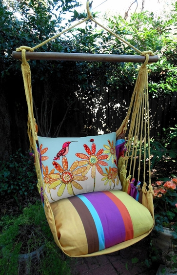 Hummingbird & Ladybug Hammock Chair Swing Set - Click to enlarge