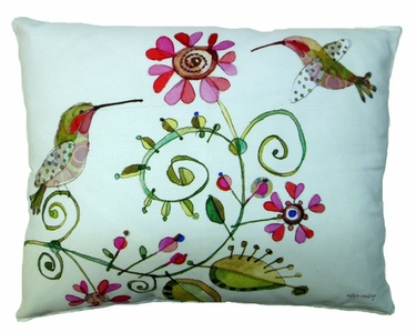 Hummingbird Love Outdoor Pillow - Click to enlarge