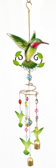 Hummingbird Wind Chime w/Jewels - Click to enlarge